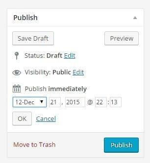 WP Publish Box