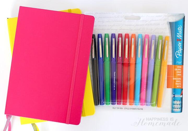 Bullet Journaling Tools - Leuchtturm1917 Notebook & PaperMate Flair Pens