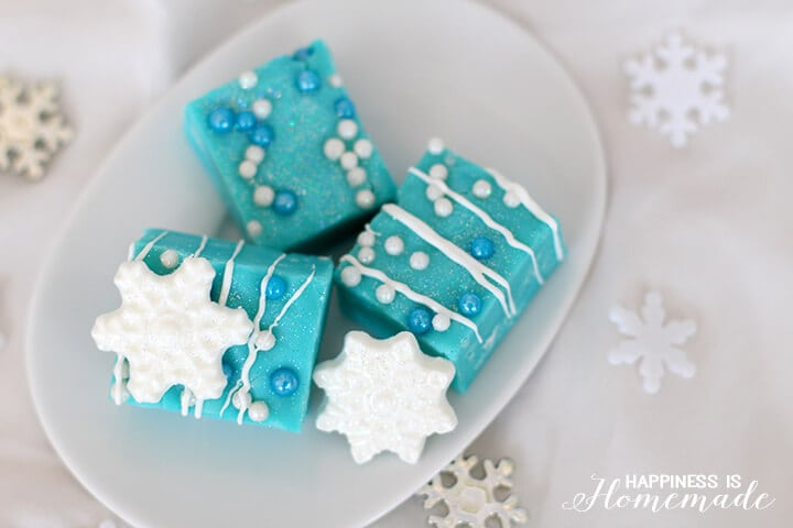 White Chocolate Fudge Inspired by the Frozen Movie