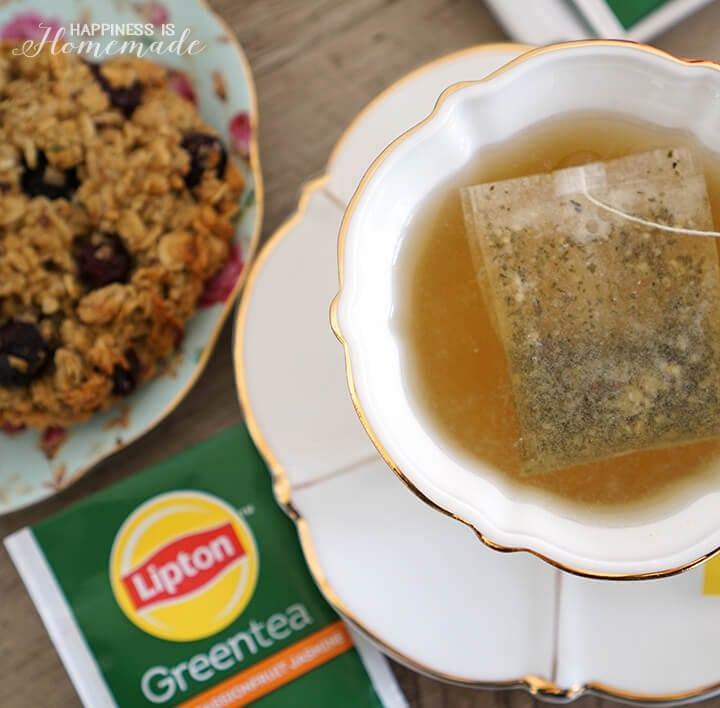 Lipton Orange Passionfruit Jasmine Green Tea & Chai Breakfast Cookies