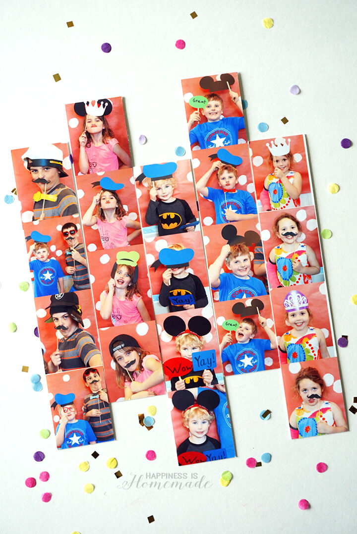 HP Photo Strips with Disney Props