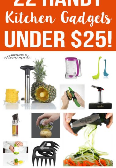 22 Handy Kitchen Gadgets Under $25 - these would all make awesome housewarming gift ideas or holiday presents!