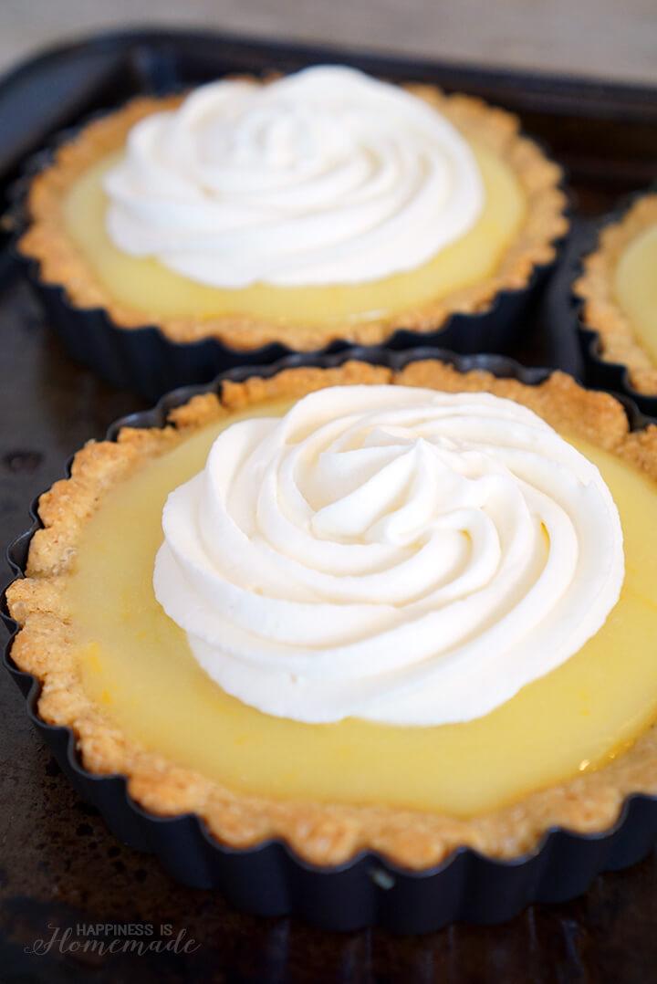Meyer Lemon Tart with Whipped Cream