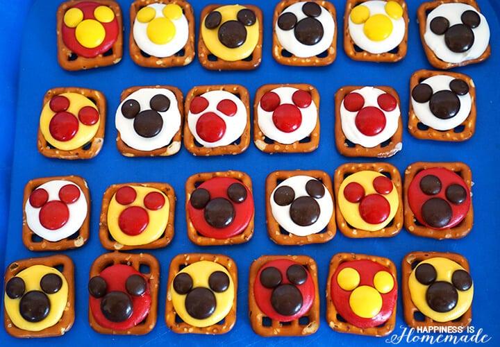 Mickey Mouse Pretzel M&Ms Treats