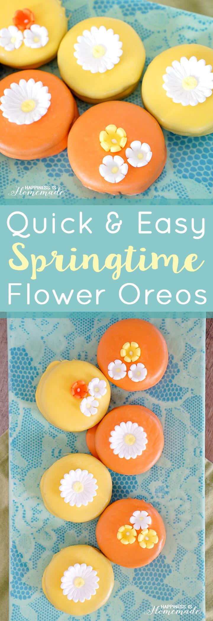 Quick and Easy Springtime Flower Oreos
