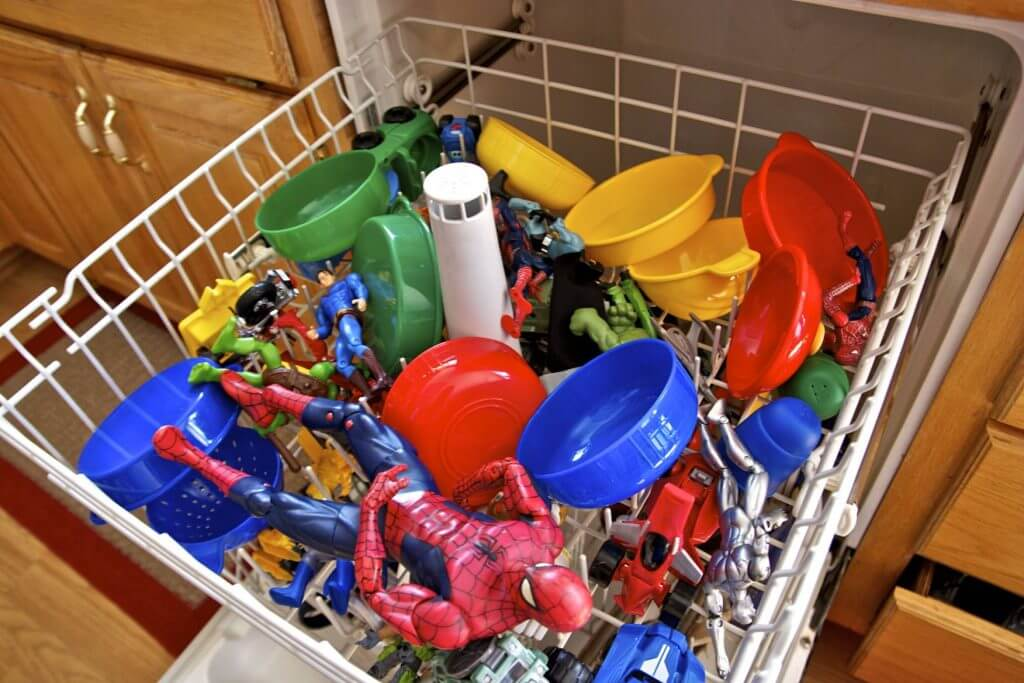 Clean toys in the dishwasher