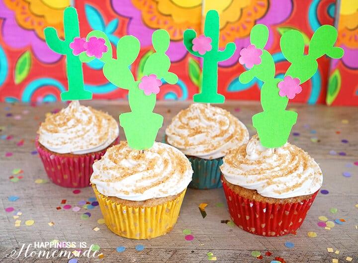 Fiesta Cinnamon Sugar Churro Cupcakes