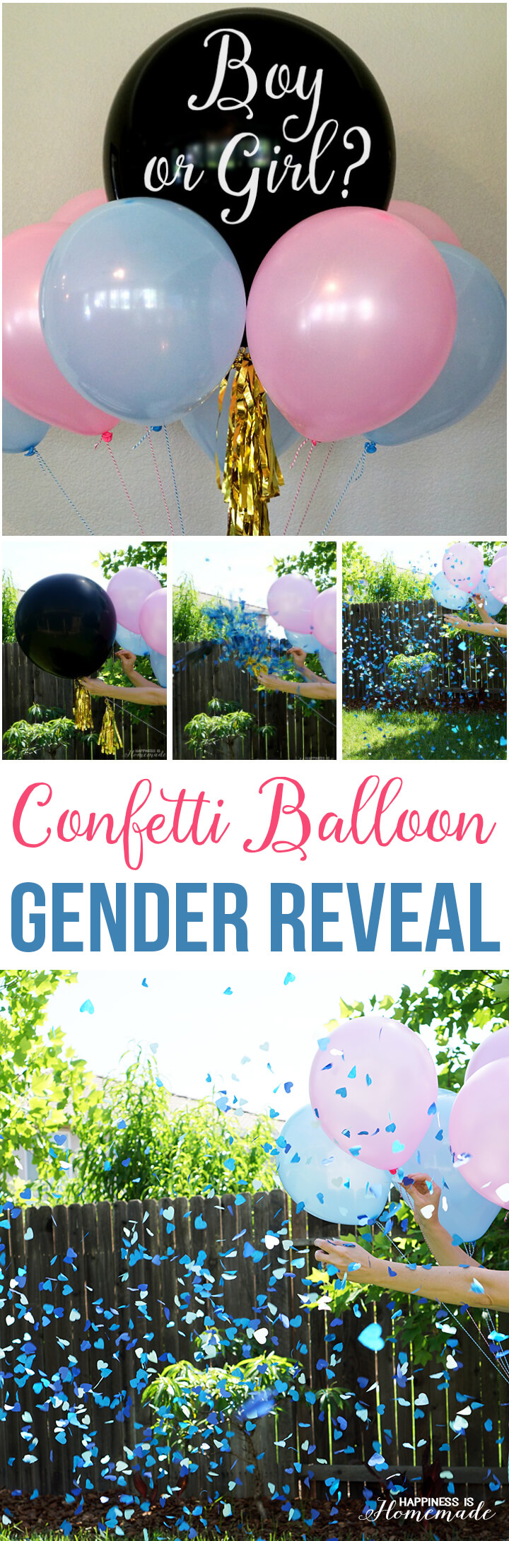 Confetti Balloon Gender Reveal Party Ideas