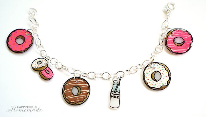 DIY Donut Charm Bracelet