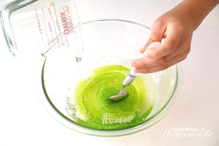 How to Make Glittery TMNT Sewer Slime