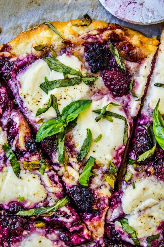Blackberry Ricotta Basil Pizza