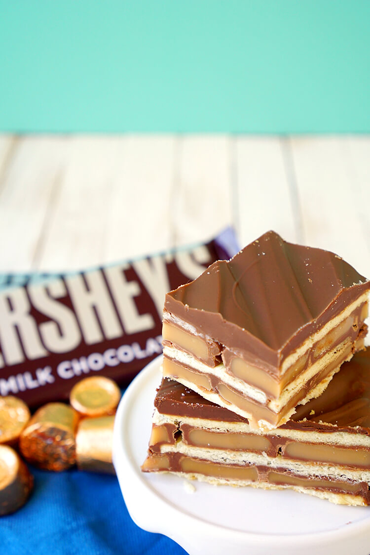 Caramel Chocolate Cracker Candy Bars