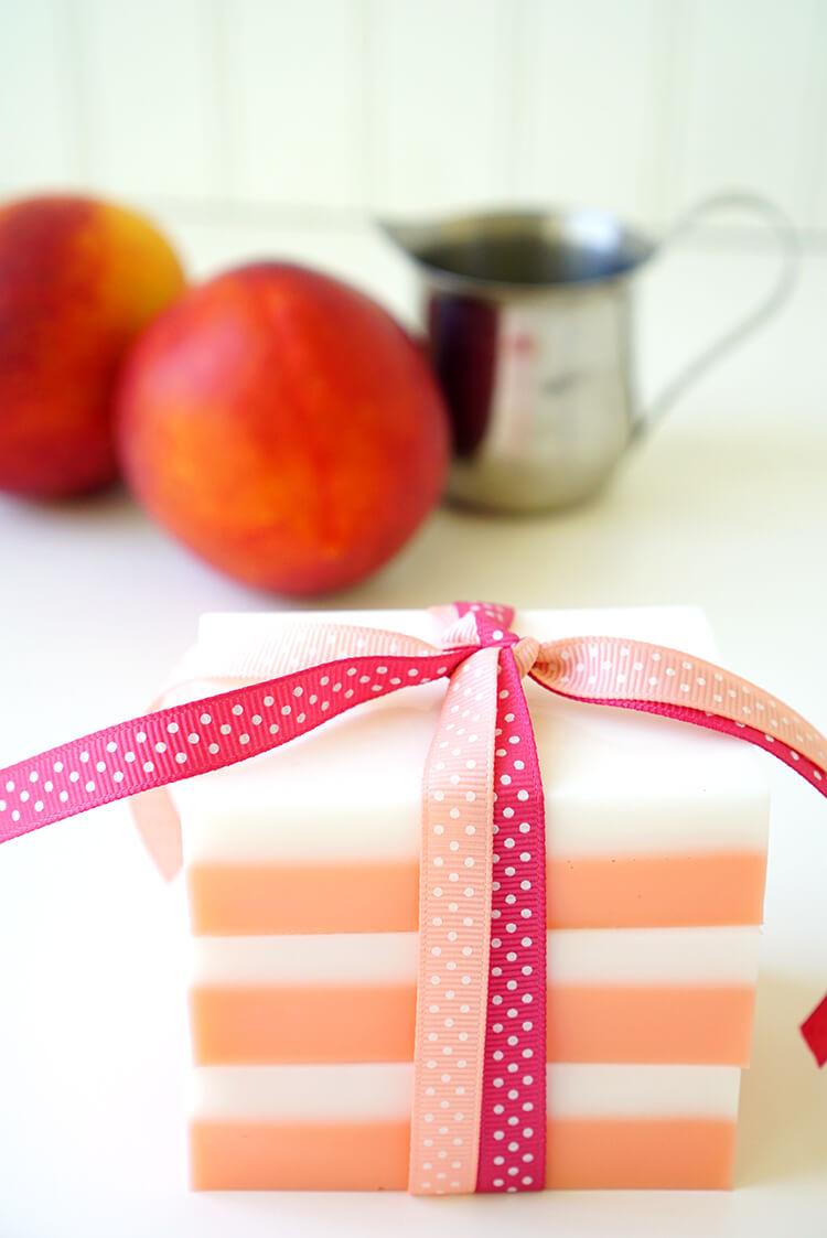 DIY Peaches and Cream Soap