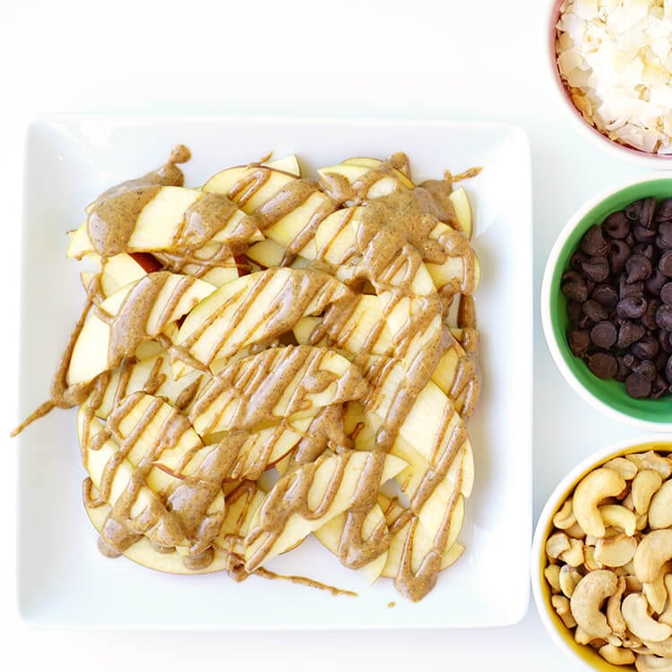 Drizzle Apple Nachos with Nut Butter