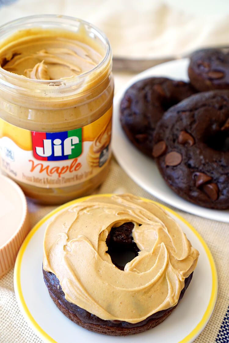 Jif Maple Peanut Butter Double Chocolate Donuts
