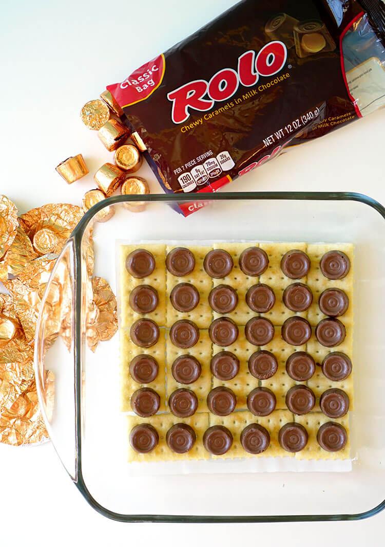 Rolo Candy Cracker Bars