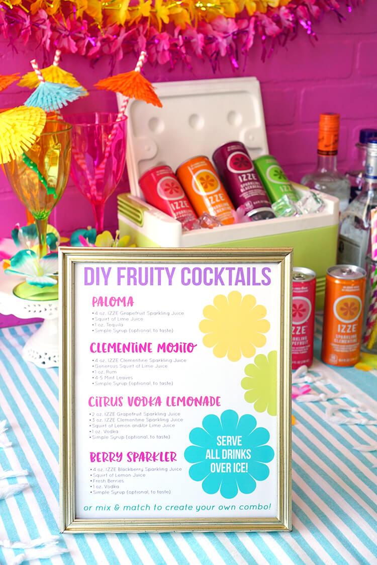 DIY IZZE Cocktail Recipes