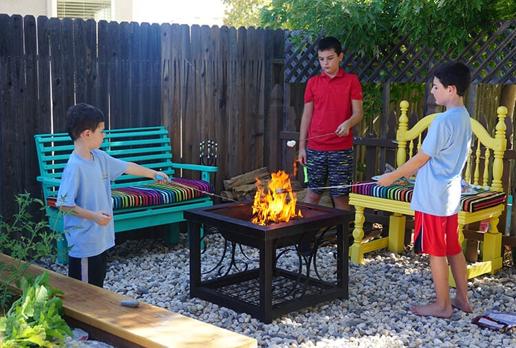 Outdoor Backyard Fire Pit Area for S'mores