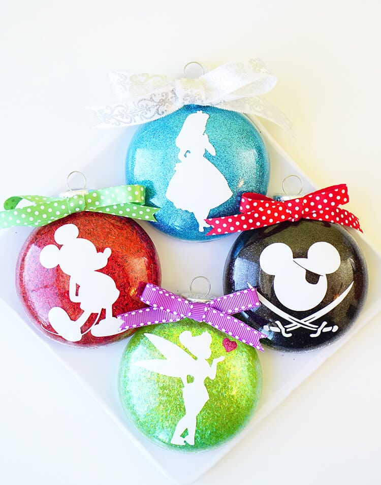 glitter-silhouette-disney-christmas-ornaments