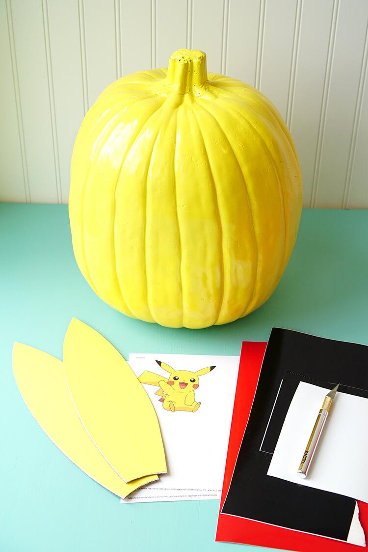 how-to-make-a-pokemon-pikachu-pumpkin