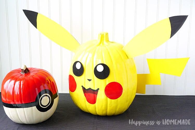 pikachu-and-pokeball-pokemon-pumpkins