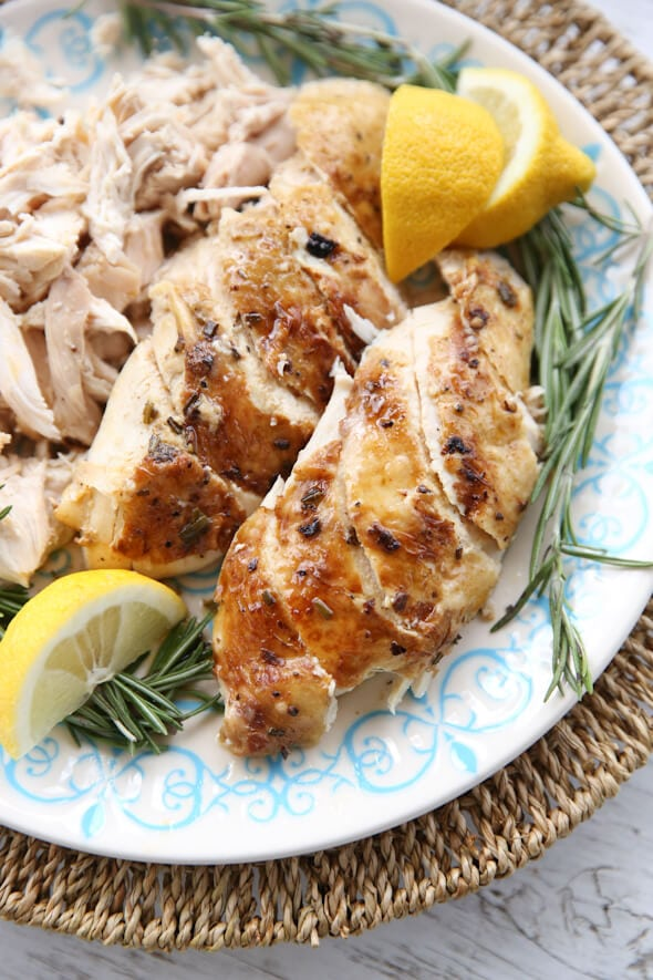 Roasted Pressure Cooked Whole Chicken in Instant Pot