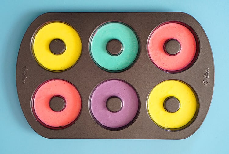 Baking Bright Colored Donuts