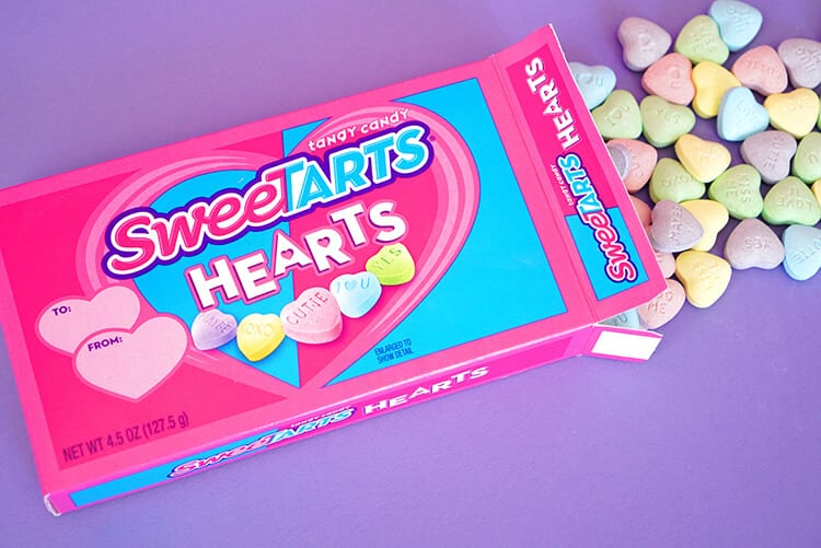 SweeTART Hearts for Valentine's Day