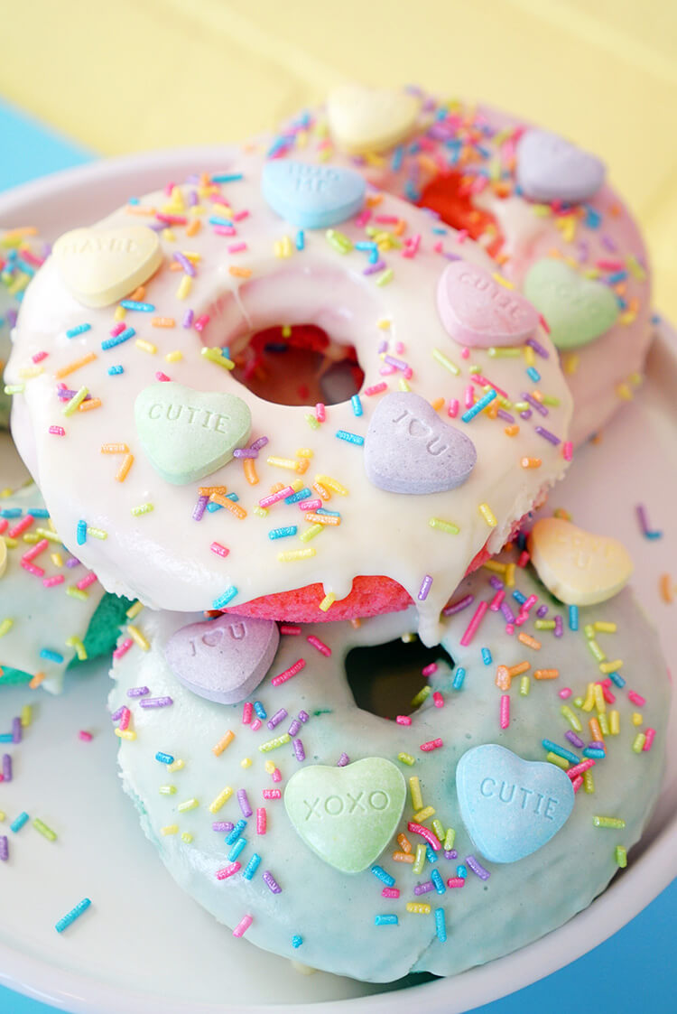 Valentines Day Donuts with SweeTART Hearts