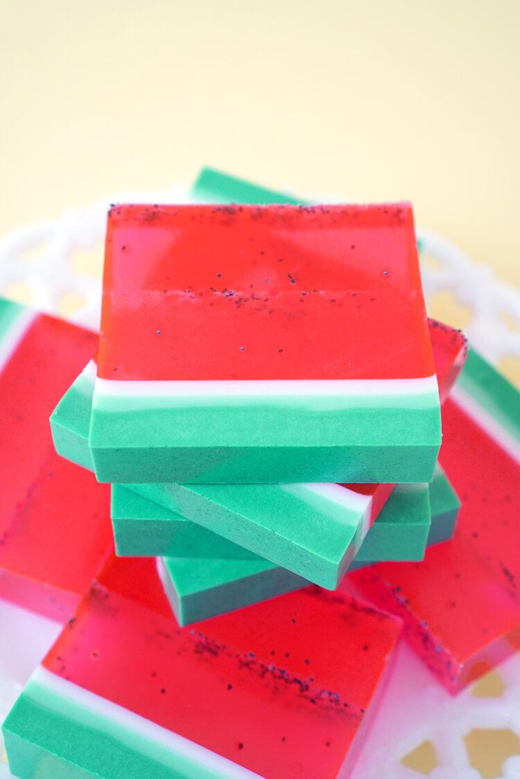DIY Watermelon Soap