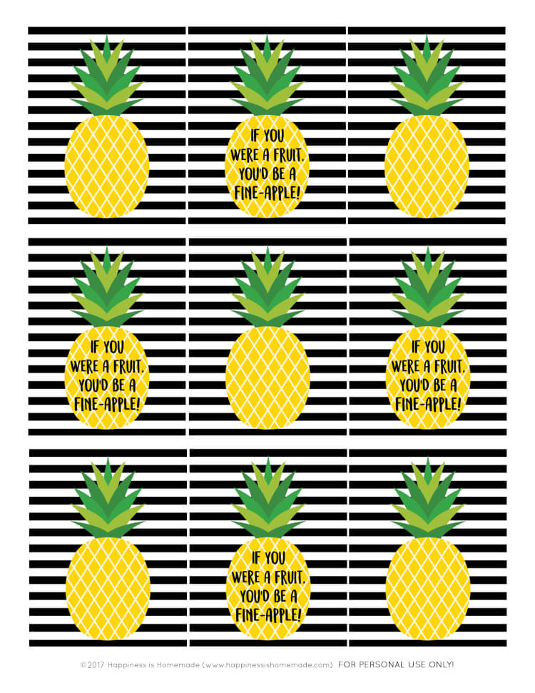 Free printable gift tags - pineapple gift tags