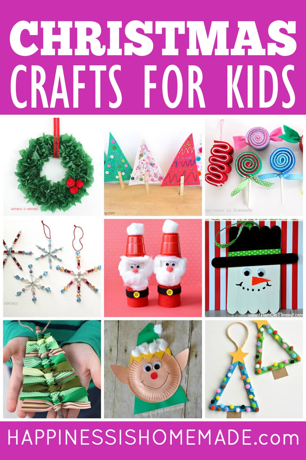 20+ Easy Christmas Crafts for Kids of All Ages   Happiness is Homemade