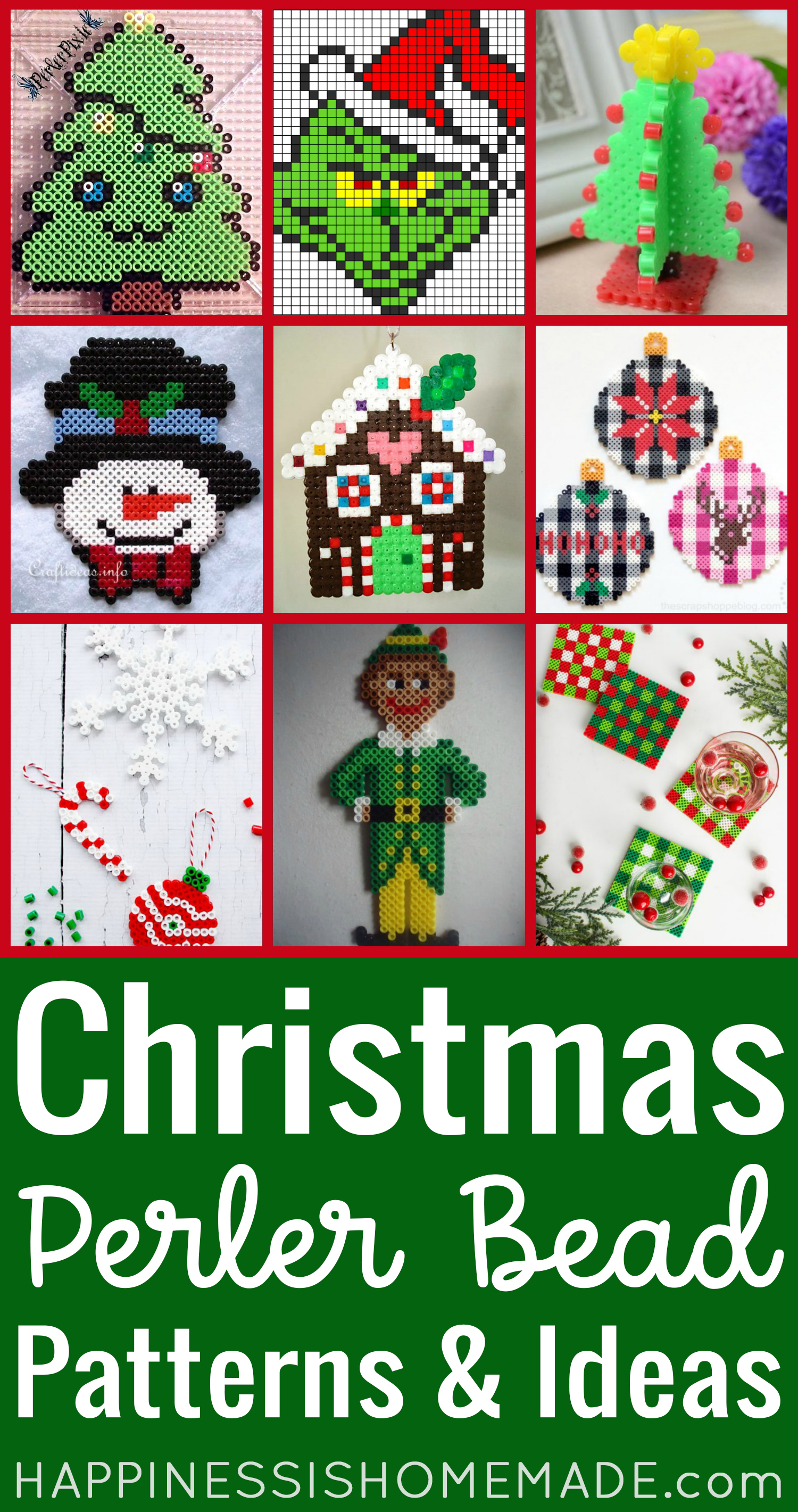 Christmas Perler Bead Patterns and ideas