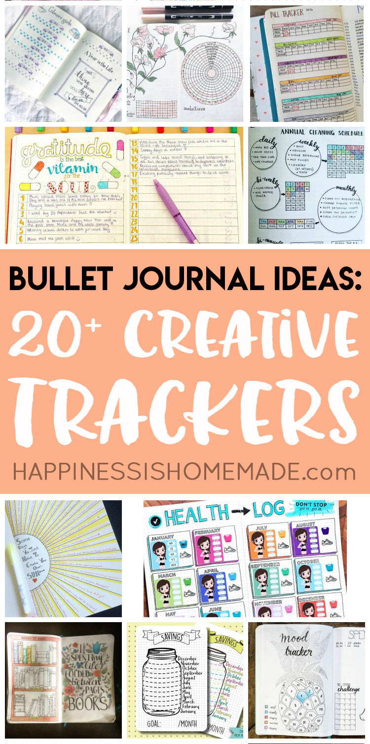 Looking for bullet journal ideas? These creative bullet journal tracker charts will help you get organized, save money, lo
