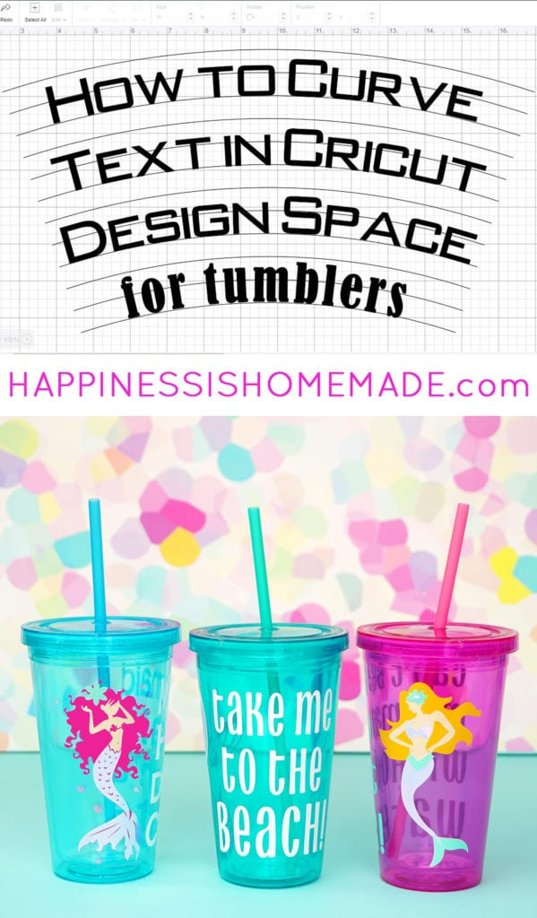 How to Curve Text in Cricut Design Space for Tumblers to that it Looks Straight