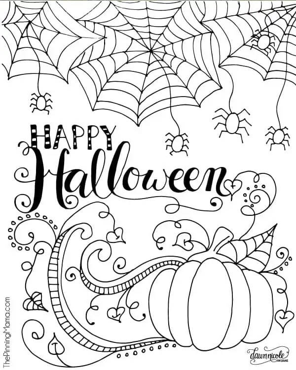halloween coloring pages free printable # 2