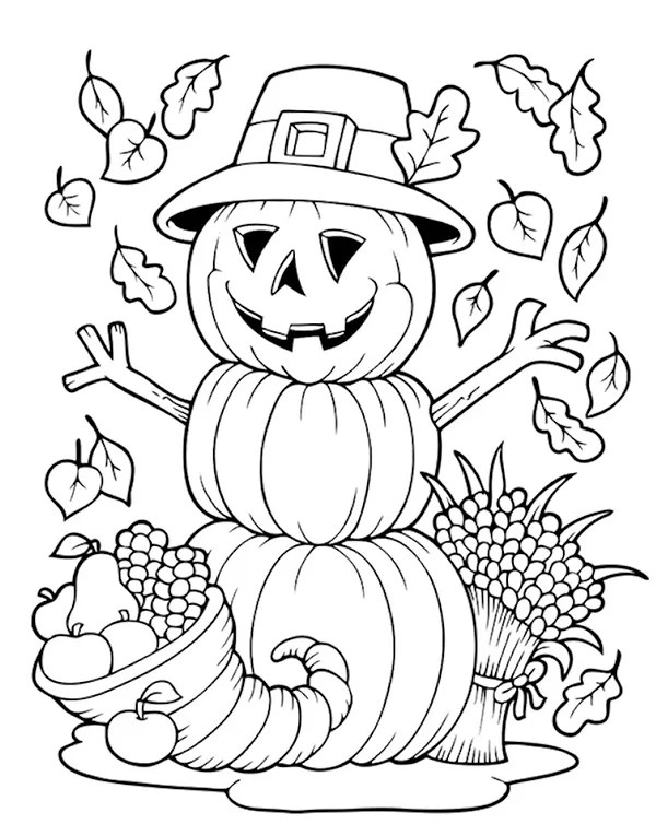 thanksgiving coloring pages # 14
