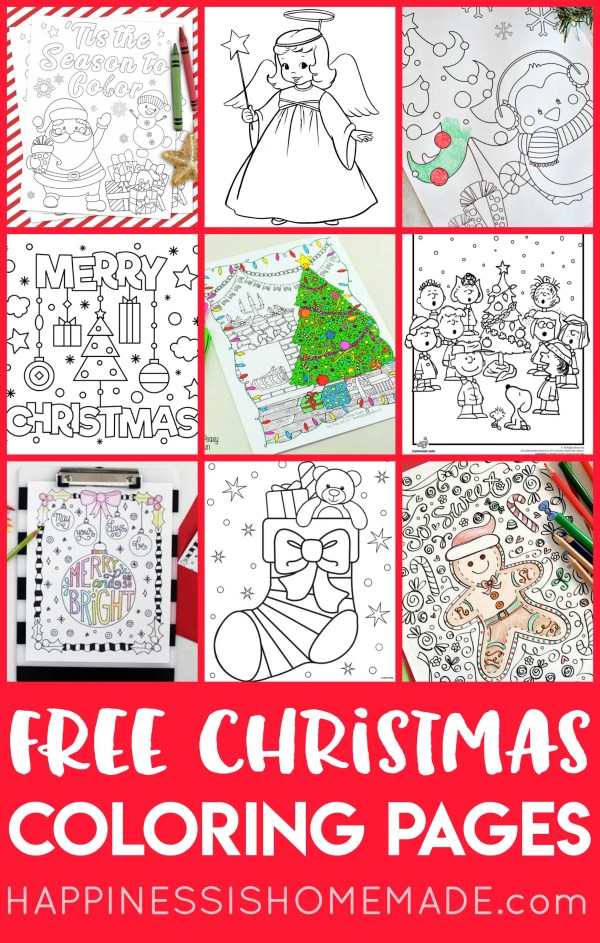 christmas coloring pages printable free # 18