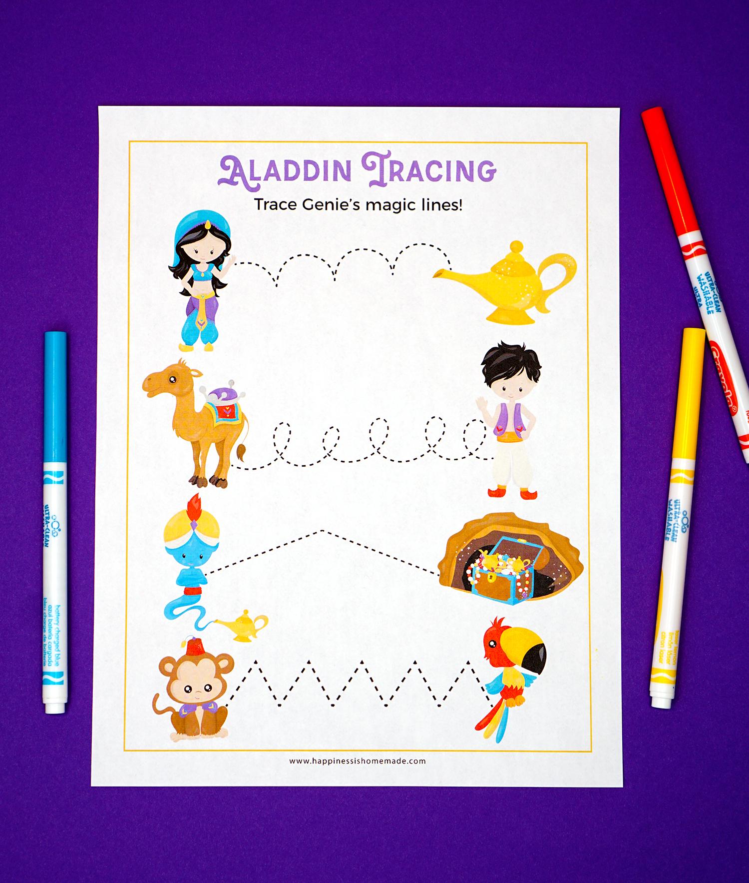 Aladdin Preschool Printables Happiness Is Homemade