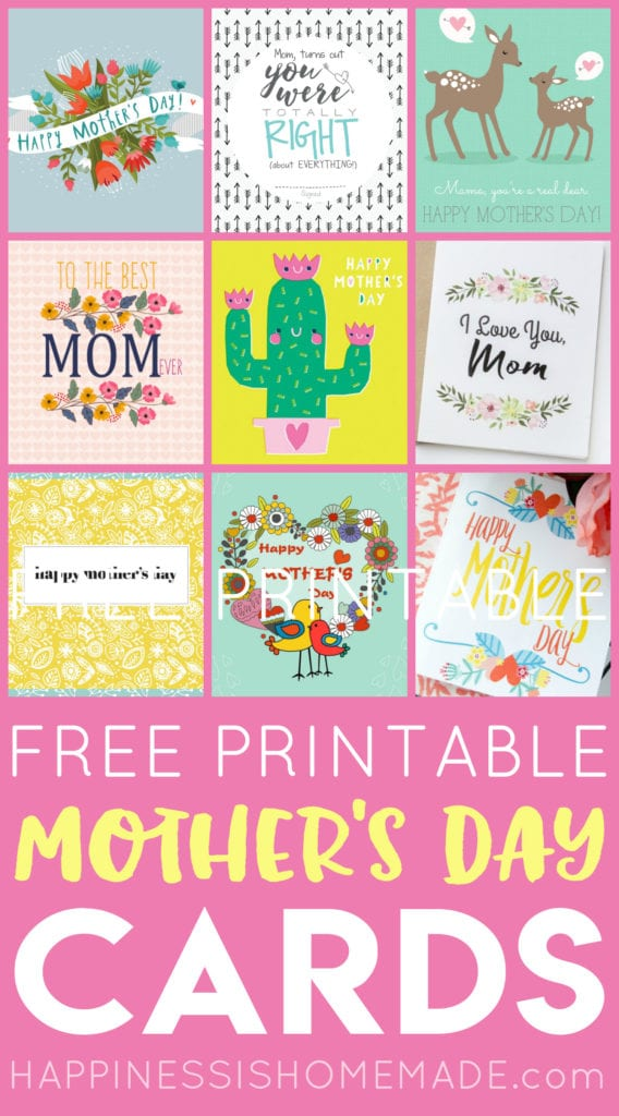 Free Printable Mother's Day Cards - Happiness Is Homemade