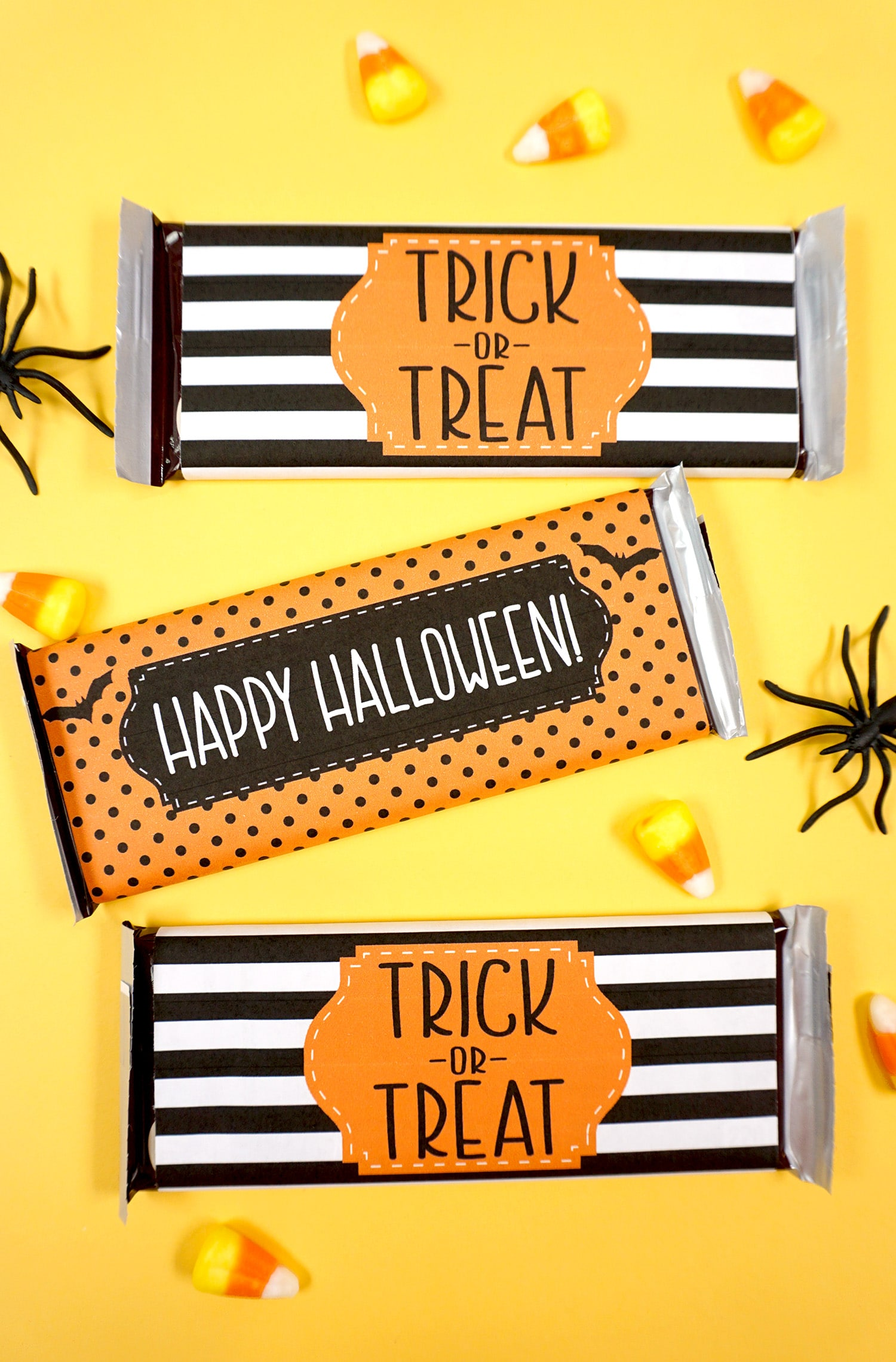Free Printable Halloween Candy Bar Wrappers Happiness Is Homemade