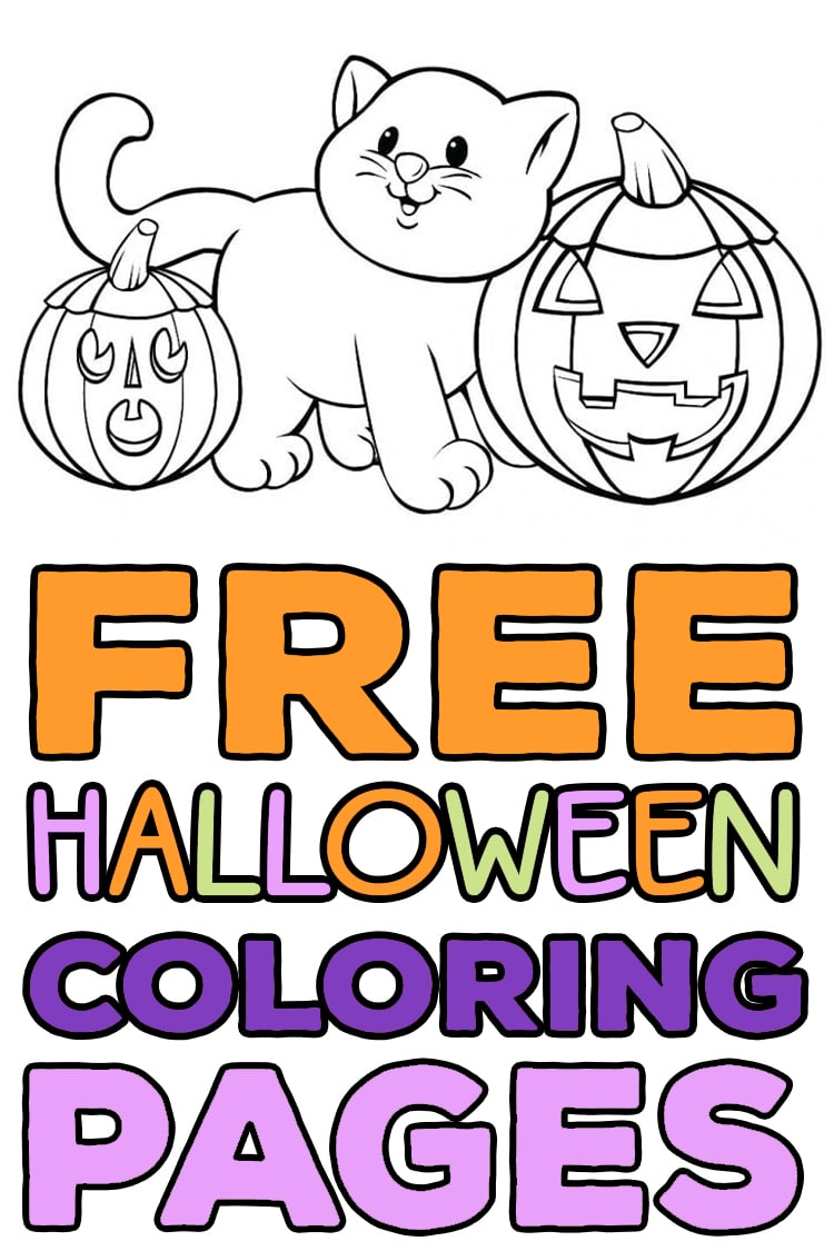 Free Scary Halloween Coloring Pages.Free Halloween Coloring Pages For Adults Kids Happiness Is Homemade