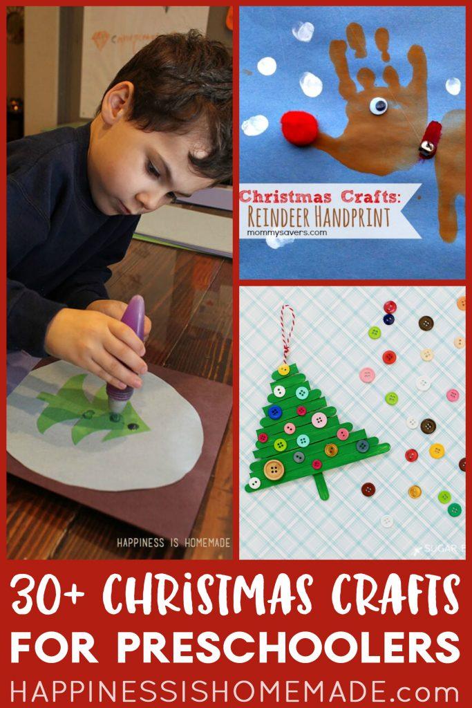 30+ Christmas Crafts for Preschoolers