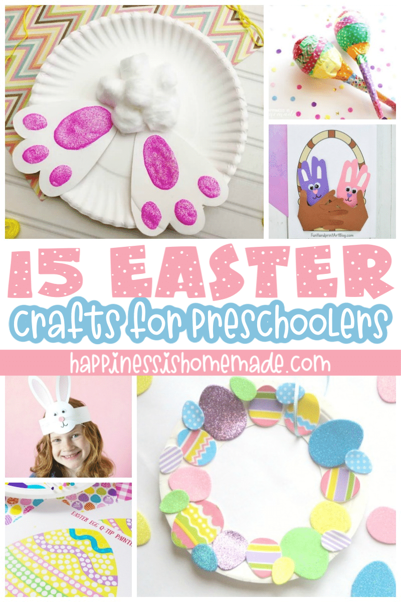 Easter Crafts for Preschoolers   Happiness is Homemade