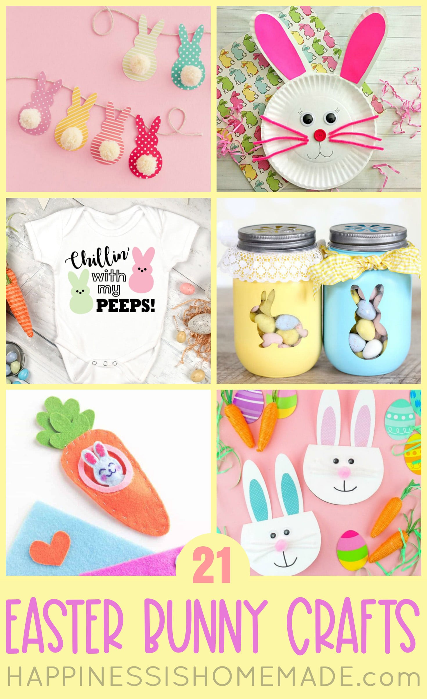 Easter Bunny Crafts for Kids and Adults