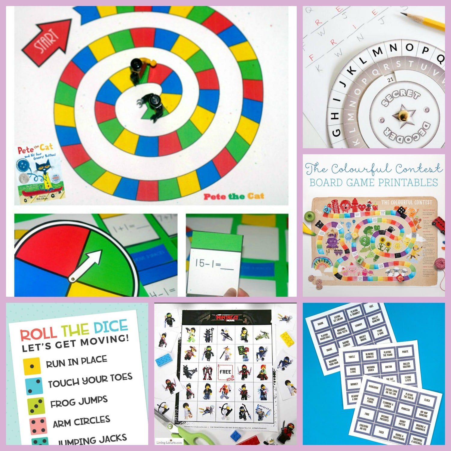 25 Fun Printable Games For Kids Happiness Is Homemade