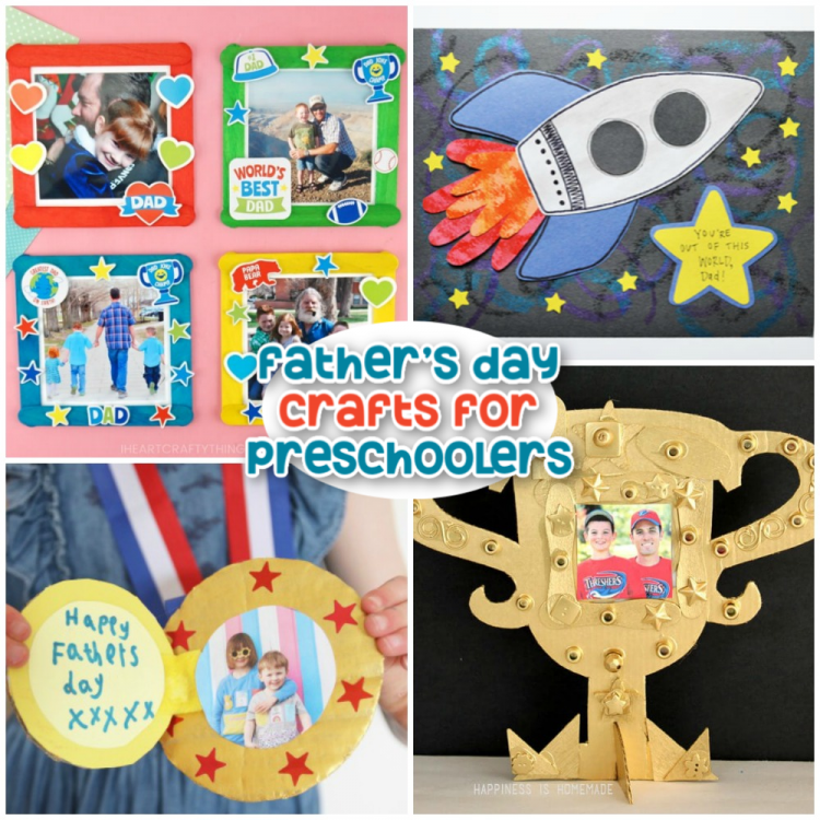 20 Father S Day Crafts For Preschoolers Happiness Is Homemade