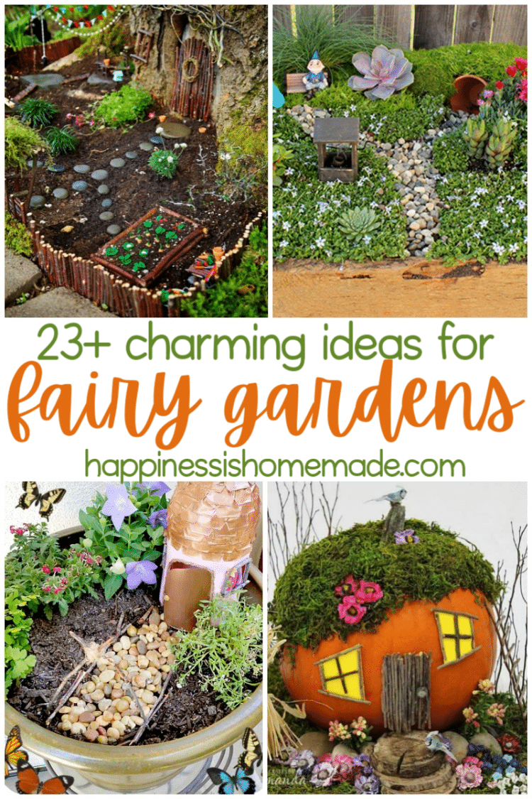 23+ charming ideas for fairy gardens with multiple images of fairy gardens