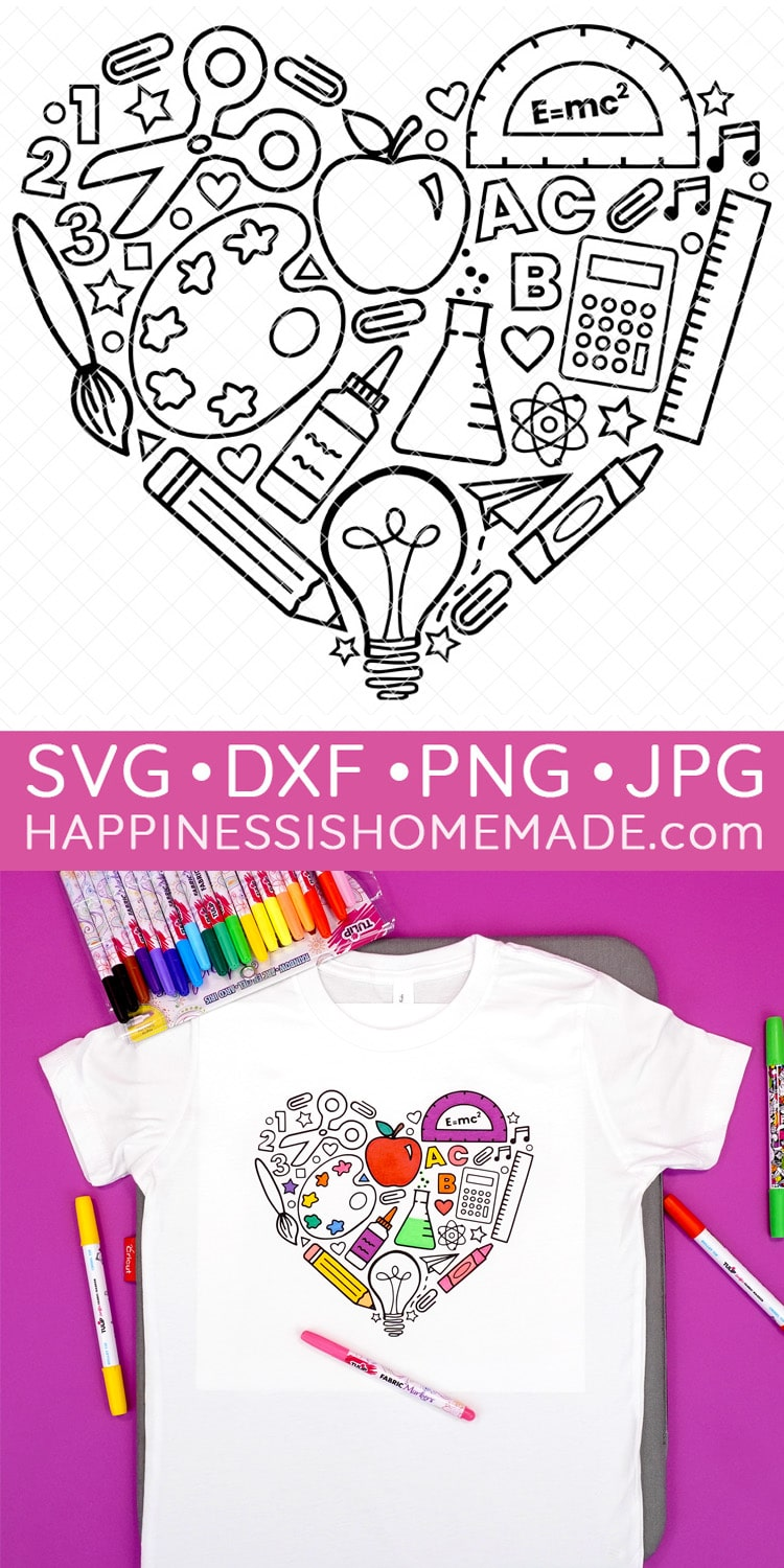 Graphic of Back to School SVG and Coloring Shirt