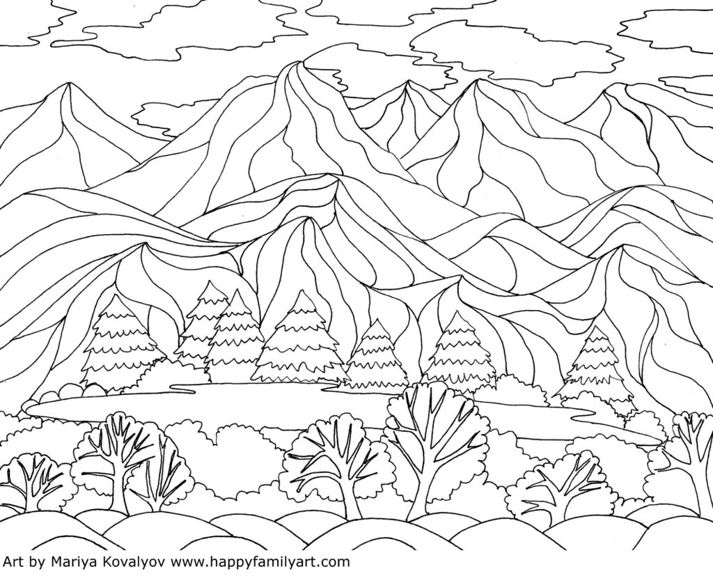 Coloringpagelandscape